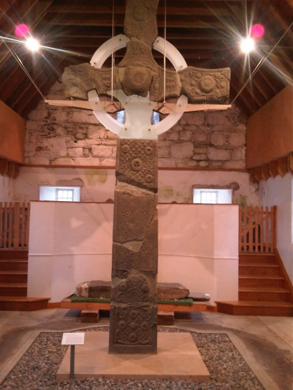 First celtic cross. Iona